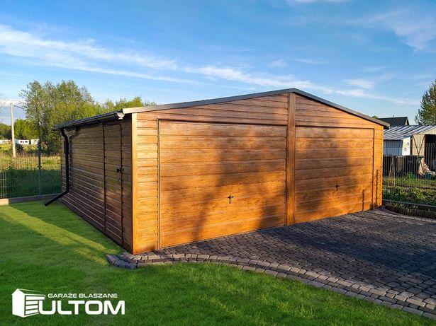 Garaż blaszany jak drewniany 7x5 wzmocniony garaże wiaty hale ULTOM