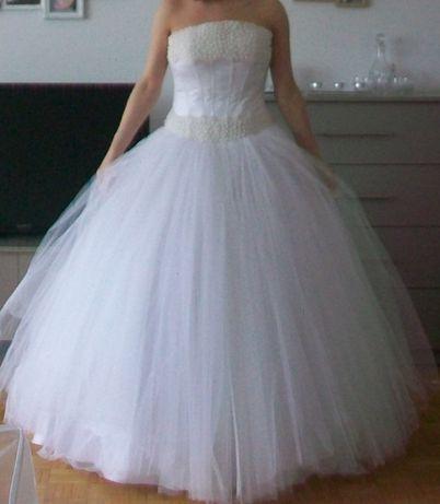 Suknia ślubna rozm.36 biała perła