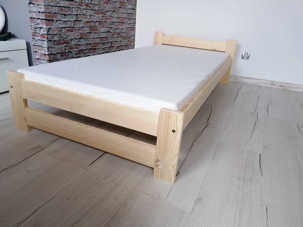 Łóżko + materac zestaw 90x200 Lakierowane jasna sosna