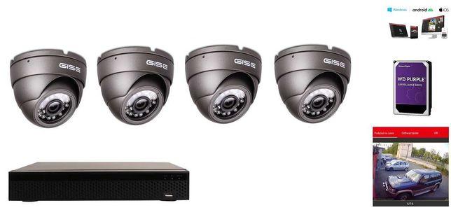 Zestaw kamer 4 6 8 16 kamery monitoringu 5mpx UHD montaż kamer Kłobuck