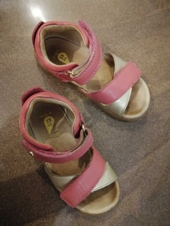 Sandałki BOBUX r. 23 różowe złote dla dziewczynki sandały dziewczęce