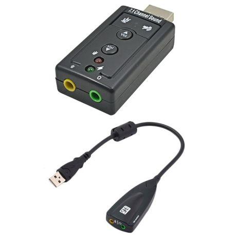 Adaptador Som USB Jack 3.5mm