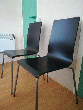 2x krzesło czarne MARTIN IKEA