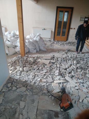 Демонтаж стен, плитки стяжки. Ввоз мусора. Любые демонтажные работы.