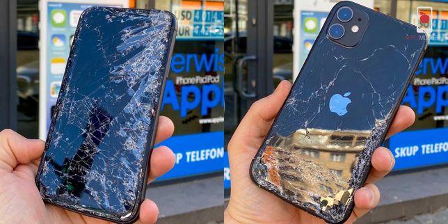 Naprawa IPhone Zbita Szybka Tył Przód Nowe Szkło PROMOCJA