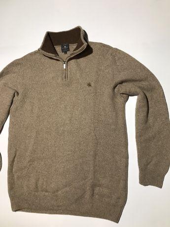Мужской свитер шерстяной , шерсть ягнёнка kitano