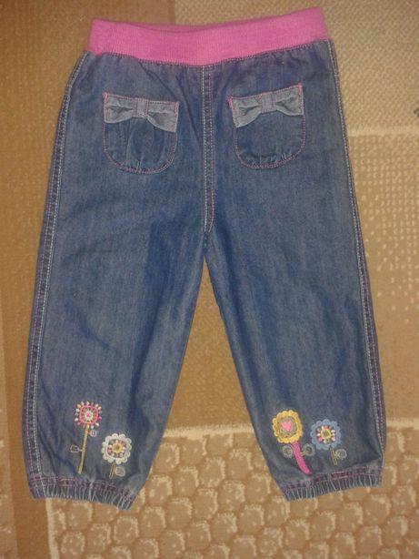 Нарядные.Очень красивые джинсы с х\б подкладкой на 1-2 годика