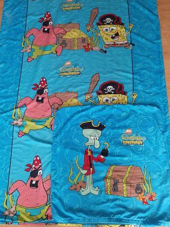 Poszewka na pościel dla dziecka 140x200cm SpongeBob Nickelodeon