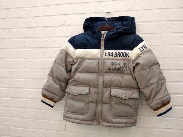Стильная серая куртка на мальчика Chiccо зимняя