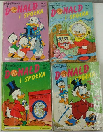 Donald i Spółka x 4 komiksy, nr 1, 4, 5, 8 [1991]