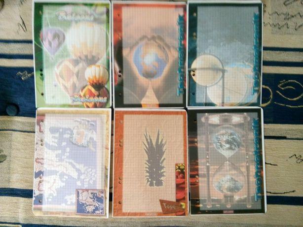 Karteczki do segregatora stare wkłady kolekcja