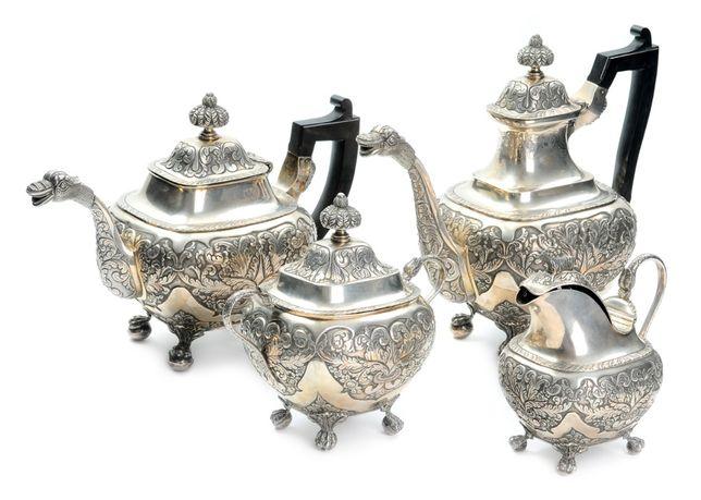 Serviço Chá Café Prata Séc XIX