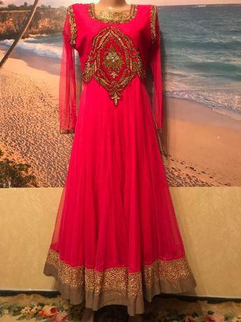 Коллекционный восточный наряд платье ручной работы Р.44/48 Индийский