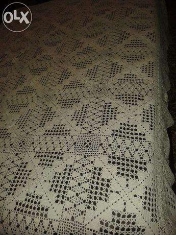Toalha de renda / Crochet manual
