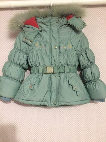 Комбинезон пуховик/куртка на девочку 4-6 лет (пух/перо)