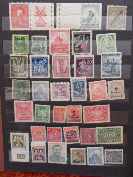 stare czyste znaczki pocztowe przedwojenne wojenne powojenne zestaw