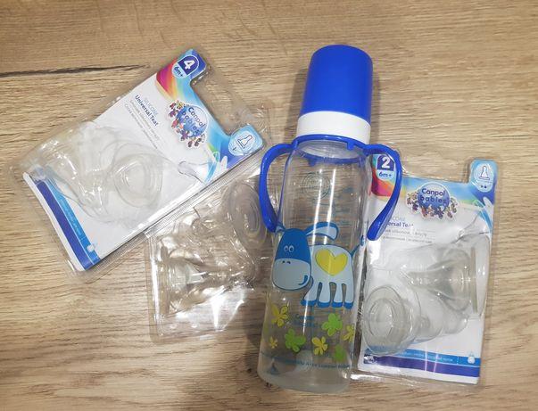 бутылочка canpol с 4 комплектами сосок