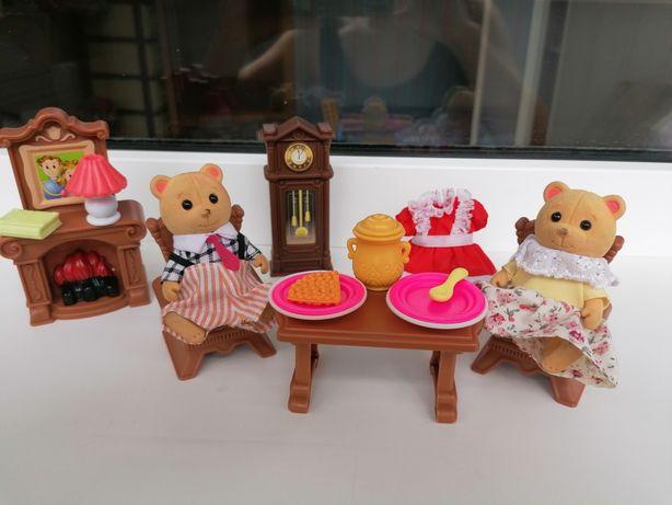 Комплект мебели для кукол фигурки happy family