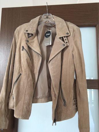 Nowa kurtka skórzana 38 beżowa