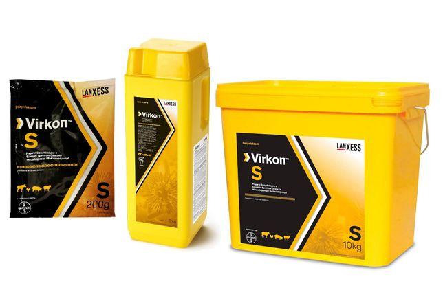 Virkon S do dezynfekcji powierzchni porowatych-obór, chlewni, mat 10kg
