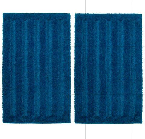 IKEA 2 dywaniki łazienkowe EMTEN kolor morski IDEAL j. NOWE 50X80