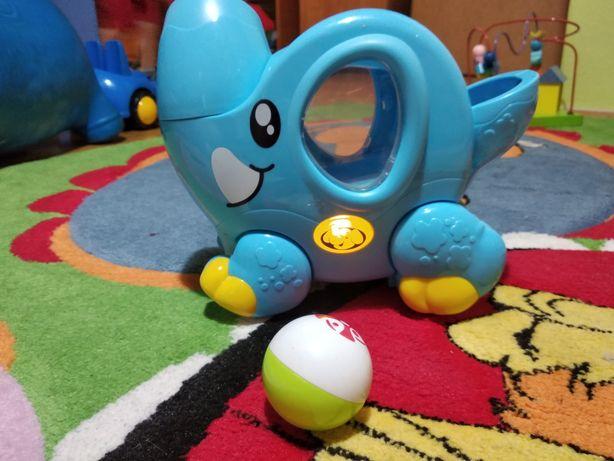 Zabawka Słonik DUMEL wyrzutnia piłek