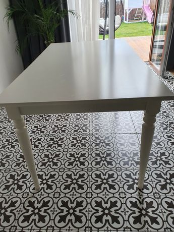 Stół biały Ikea INGATORP 155x87cm rozkładany