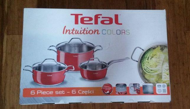 komplet garnków firmy Tefal Intuition colors