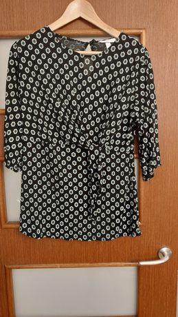 Bluzka ciążowa rękaw 3/4, h&M, z wiązaniem pod biustem