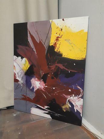 Интерьерная картина абстракция акрил холст 80х100см