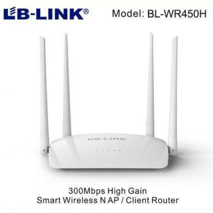 Роутер з 4-я антенами і 2-я портами швидкістю до 300 Mbps