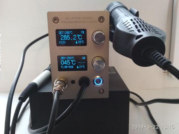 Паяльная станция STM32 паяльник+ фен, для жал типа Hakko t12