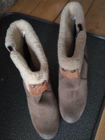 Calvin Klain  Jeans  buty ocieplane nubuk damskie 39