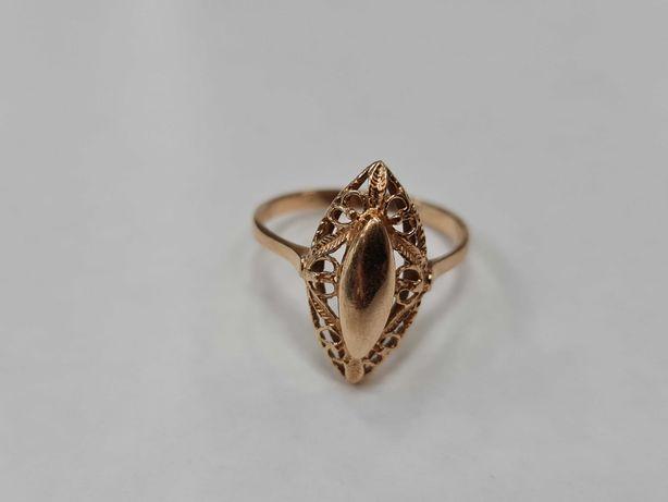 Klasyczny złoty pierścionek damski/ 585/ 2.50 gram/ R20/ Lite złoto