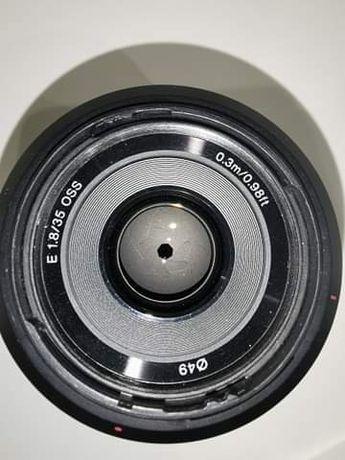 Obiektyw Sony 35 mm 1.8 OSS E-mount pod APSC. Stan idealny
