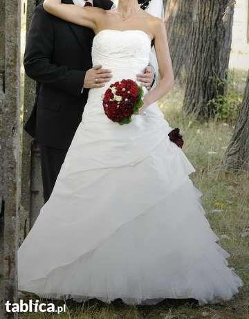 Francuska Suknia ślubna Noce-D-Ambre halka gratis rozmiar 36