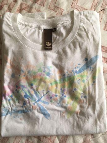 T-shirt Branca Element tamanho S