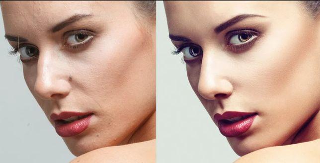 Profesjonalny retusz skóry bez rozmycia | obróbka zdjęć | Photoshop