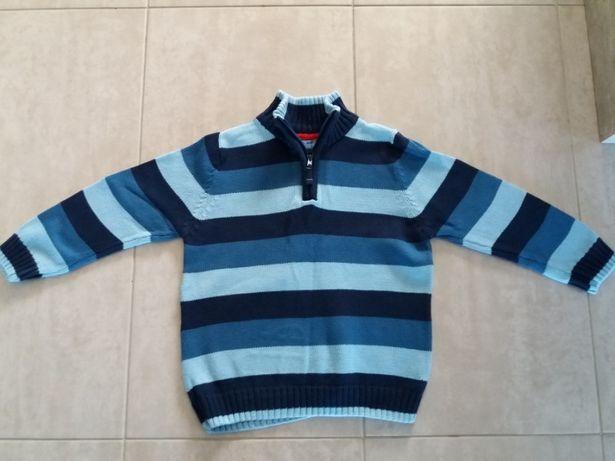 Sweter niebieski, paski, TU, 98-104