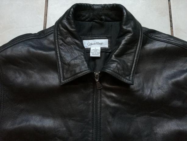 Calvin Klein CK kurtka skórzana, skóra naturalna rozmiar L
