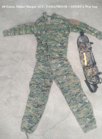 AIRSOFT - Uniforme Camuflado com War Bag