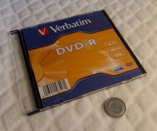 Płyta DVD-R, 4,7GB, 16x, 120min (Verbatim) Silm