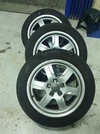 Jantes 17 5 112 audi a5 com pneus Bridgestone em bom estado