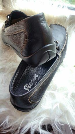 Кожаные коричневые мокасины 6 1\2 размера, немецкий бренд SIOUX.