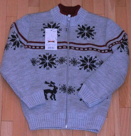 Кофта на молнии, свитер с новогодним узором Польша