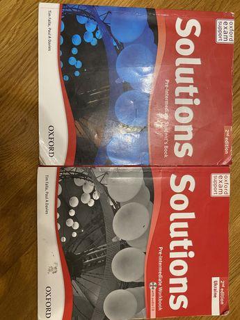 Комплект Solution pre-intermediate (workbook, student's book)