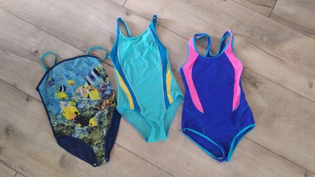 Stroje kąpielowe , kostium pływacki rozm 146-150