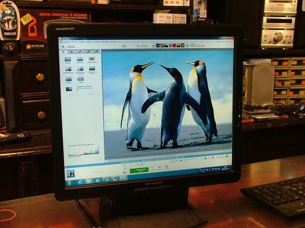 porządny 17 calowy monitor komputerowy z głośnikami