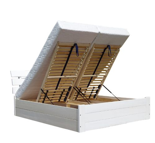 łóżko z otwieranym pojemnikiem o głębokości 27 cm SANTI 140x200