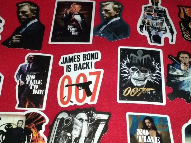 50 sztuk naklejek James Bond 007